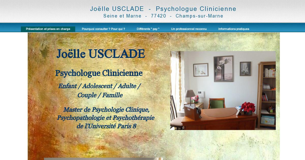 jo lle usclade psychologue clinicienne champs sur marne seine et marne 77. Black Bedroom Furniture Sets. Home Design Ideas
